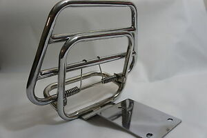 VESPA PX 125 150 VBB LVB VBC Stainless Steel Rear Folding Luggage Rack