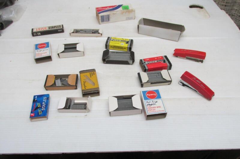 StaplesArrow #25,No S 25,No A 44,Apsco No 4001,2 Staplers  N king Edward Box