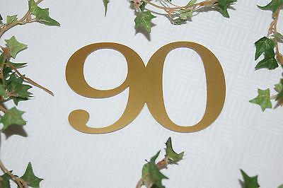läum  Geburtstag Jubiläumszahl 90 gold (90. Geburtstag Tischdekoration)