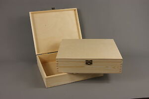 PLAIN-WOOD-WOODEN-BOX-CHEST-DECOUPAGE-29-x-25-x-7-5-P29-STORAGE-WEDDING