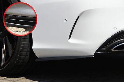 Heckansatz Flaps Seite aus ABS für Mercedes C-Klasse W205 43AMG schwarz glanz