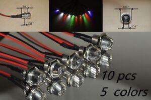 10pcs LED Indicator Light DC12V  Lamp Pilot Dash Directional Car TruckBoat