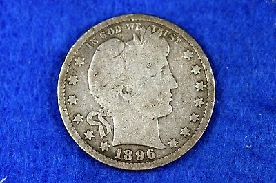 ESTATE FIND 1896 - Barber Quarter!!  #H12120