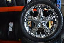 """4 SET 17"""" ALLOY WHEELS WITH TYRES + 5X120 + GOOD CONDITION Virginia Brisbane North East Preview"""