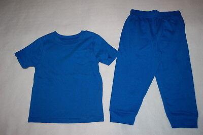 Baby Boys Outfit BLUE S/S TEE SHIRT w/ POCKET Knit Pants Ribbed Cuffs 24 MO Baby Rib S/s T-shirt