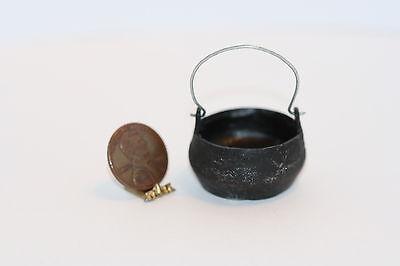 Dollhouse Miniature Black Hanging Cauldron Pot by Falcon Miniatures