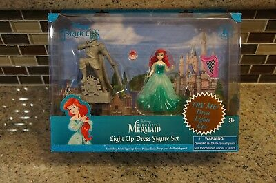 Disney Theme Park Ariel Light Up Dress Figure Polly Play Set The Little Mermaid  - Harry Potter Themed Dress