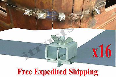 16pcs Sheet Metal Panel End Welding Holder Clamp Nut Edge-to-edge