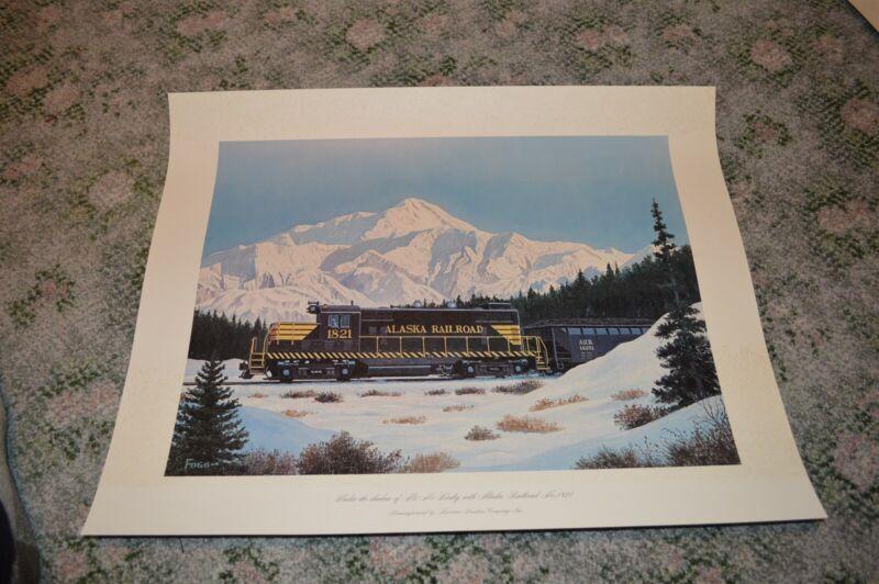 Vintage Alaska Railroad #1821 Poster Print Mt. McKinley by Fogg