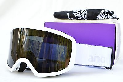 c280388d1f64 2017 NIB WOMENS ANON DERINGER SNOWBOARD GOGGLES  140 Whiteout Dark Smoke  mask