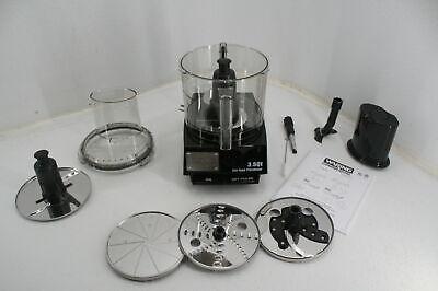 Waring Wfp14s Food Processor 3-12-quart Clear Bowl 1 Horsepower Motor Black
