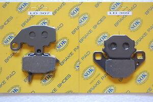 FRONT REAR BRAKE PADS KAWASAKI KLR 650, 1987-2007 KLR650 KL650 KL 650