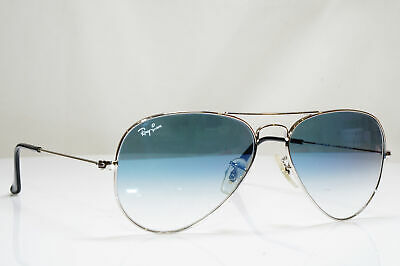 RAY-BAN Mens Womens Sunglasses Silver AVIATOR 55mm BLUE RB 3025 003/3E 26563