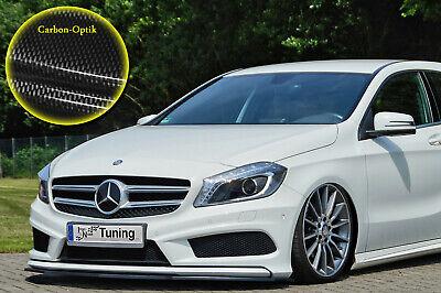 Schwert Frontspoiler ABS Mercedes A-Klasse AMG-Line W176 ABE Carbon Optik