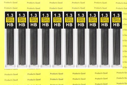 1.3 mm Mechanical pencil lead refills 120 black 1.3mm lead refill Black graphite
