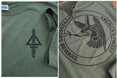 Delta Force (1st SFOD-D) The Unit OPRESSORS BEWARE Silk-Screened T-Shirt XL