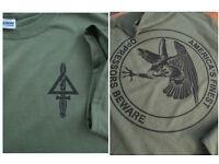 The Unit OPRESSORS BEWARE Silk-Screened T-Shirt XL Delta Force 1st SFOD-D