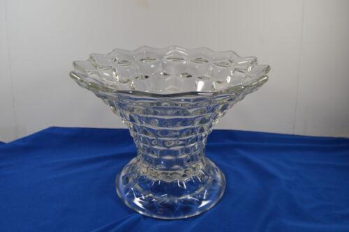 "Fostoria American Flared Punch Bowl Base/Vase ? 7"" tall"