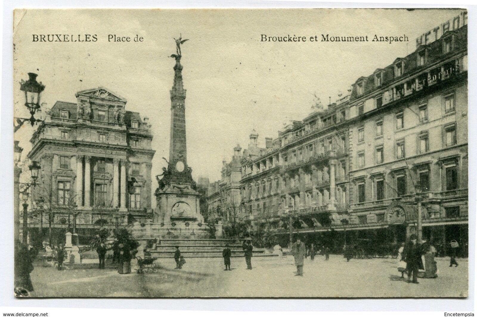 CPA-Carte postale-Belgique-Bruxelles -   Place de Brouckère et monument Anspach