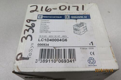 TELEMECANIQUE SQUARE D CONTACTOR LC1D40004G6