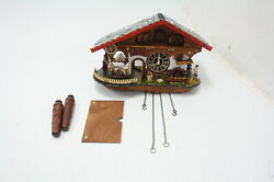 Trenkle Quartz Cuckoo Clock Black Forest House Moving Beer Drinker Mill Wheel