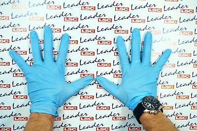 Caja De 100 Guantes Nitrilo en Azul (Grande) - Nuevo De Lsc...