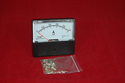 Dc 1a Analog Ammeter Panel Amp Current Meter Dc 0-1a 6070mm Directly Connect