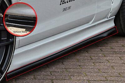 CUP2 Seitenschweller Schweller ABS Mercedes A-Klasse W176 Urban schwarz glanz