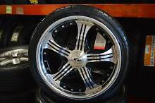 "4 SET 17"" SPORT MAG WITH TYRE + MULTI 4 STUDS + MINT CONDITION Virginia Brisbane North East Preview"