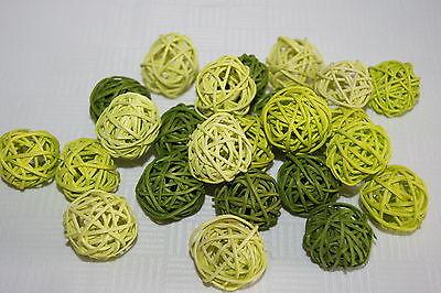 Rebenkugeln Rattankugeln 24 St. Tischdekoration grün mix
