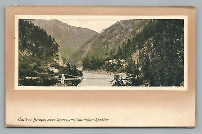 Cariboo Bridge Spuzzum British Columbia Rare Antique Pc Transcanada Hwy 1916