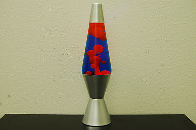 14.5 inch 20oz Lava Brand Motion Lamp Blue Liquid Orange Wax