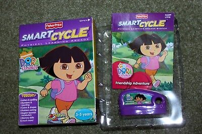 Fisher Price Smart Cycle Dora Game, Cartridge, Instruction Booklet and (Smart Cycle Dora)