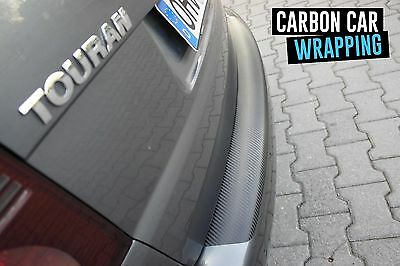 VW TOURAN 1T GP GP2 Ladekantenschutz 3D CARBON SCHWARZ CAR WRAPPING