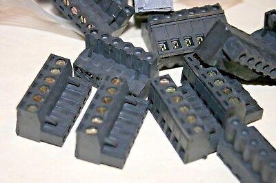25 Pack Augat 2esdv-0601 6-position Euro-mag Terminal Block 101-344