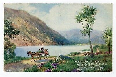 Vintage Valentine postcard - By Killardey's Lakes - Unused Excellent condition