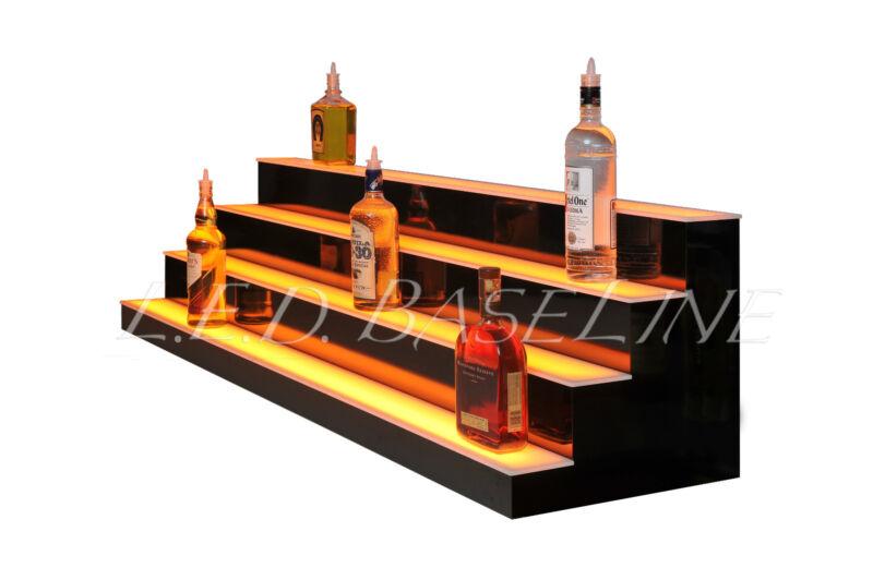 """60""""  4 Step Shelving Glass Liquor Bottle Display"""