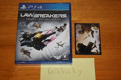 LawBreakers (PS4 Playstation 4) NEW SEALED W/CARD, LIMITED RUN GAMES, MINT!
