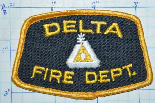 CANADA, DELTA FIRE DEPT BRITISH COLUMBIA PATCH