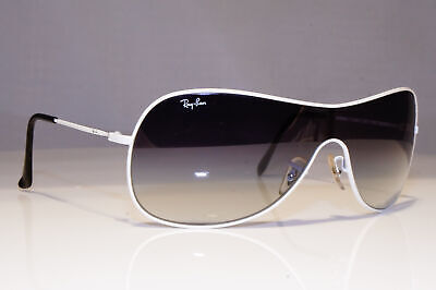RAY-BAN Mens Vintage 1990 Sunglasses White Shield RARE RB 3211 032/8G 25759