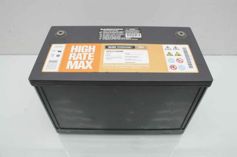 5 C&D  UPS12-400MR Deep Cycle AGM Battery Solar / UPS Backup 12V / 104 Ah