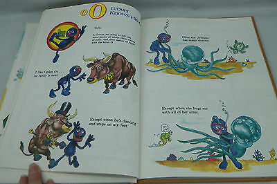 Vintage Book The Sesame Street Library Volume 7 -- Number 7 Letters N  O  P 1978
