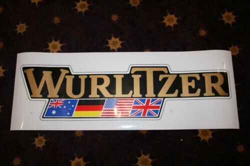 "Wurlitzer Logo SUPERSIZED 34 3/4"" X 9 1/2"" Decal Sign Poster"