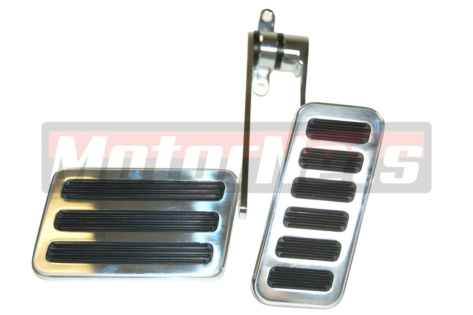 Oval billet aluminum throttle pedal with brake pedal rubber pad hot street rod