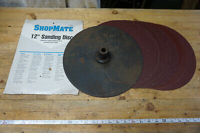 Shopsmith Mark V 510520 Used Steel 12 Sanding Disc W Extra Pads