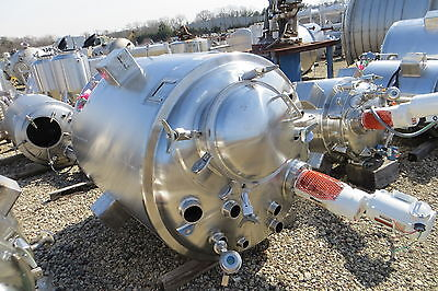 400 Gallon Precision Stainless Inc. 316l Stainless Steel Jacketed Reactor