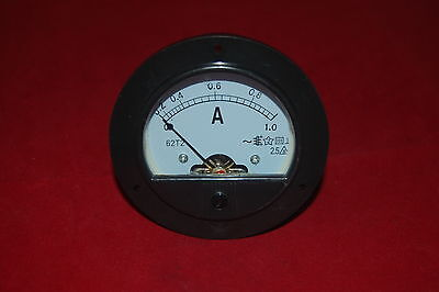 Ac 0-1a Round Analog Ammeter Panel Amp Current Meter Dia. 90mm Direct Connect