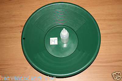 "14"" Plastic GOLD PAN Green Mining Prospecting Panning Kit 