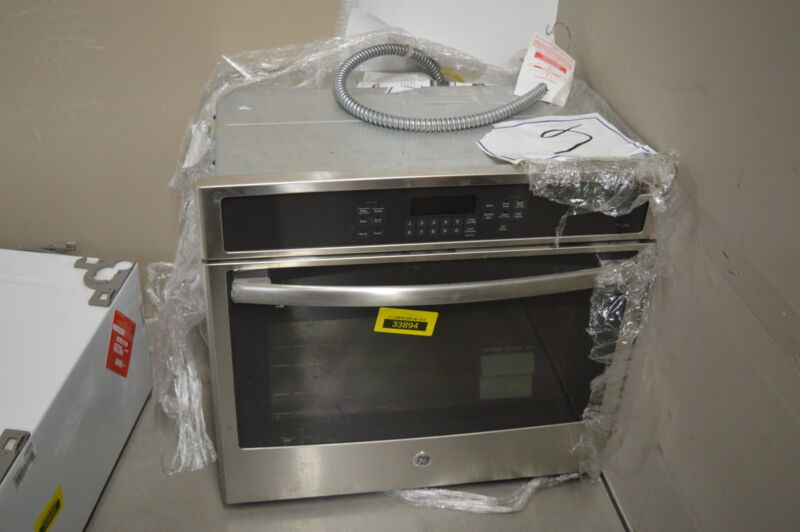 "GE 30"" Built-In Single Electric Convection Wall Oven Stainless Steel JT5000SFSS"