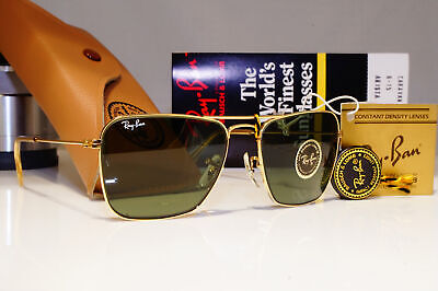 RAY-BAN Bausch Lomb New Mens Vintage 1980 Sunglasses Gold CARAVAN Arista L0226